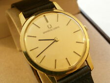 Gents Swiss UNIVERSAL GENEVE Gold Plated Wind-up Slim Dress Watch Wristwatch