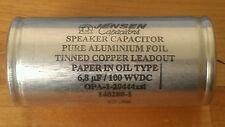 Jensen 6.8uf 100wvdc Aluminum Foil Paper in Oil Speaker Crossover Capacitor