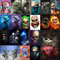Drill 5D DIY Skull Diamond Painting Embroidery Cross Stitch Kits Home Decor Gift