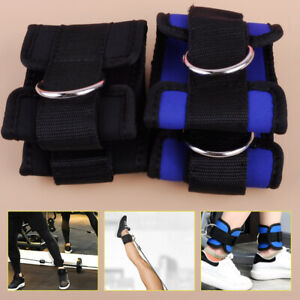Pair Weight Lifting Ankle D-ring Strap Gym Leg Training Cable Attach Fitness ti