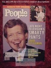 PEOPLE July 14 1986 Jul 7/14/86 DAVID LETTERMAN TONY DANZA Judge Reinhold