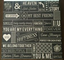 12x12 You, Me, We, Friend, Love & Happiness Tags Scrapbooking Paper