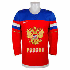 Nike Team Russia Official 2014 Olympic Replica Red Hockey Jersey sz XL