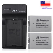 2x 1300mAh BP-110 Battery+Charger For Canon Vixia HF R20 R21 R206 R200 Camcorder