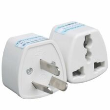 2x UK European US Universal to AU Australia Power Plug Travel Adaptor Converter