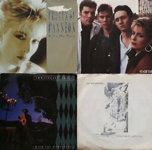 """Job Lot/Bundle Of 4 7"""" Singles.Fruits Of Passion/Immaculate Fools/The Wedding."""