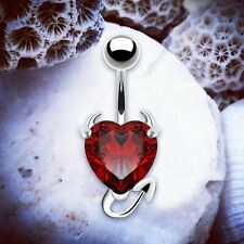 Halloween Belly Bar Heart Belly Piercings Silver Belly Bars Crystal Navel Ring