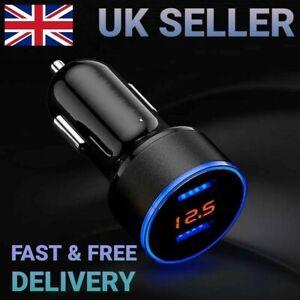 Car cigarette lighter phone Fast charger 12/24V !RED! LED  VOLTAGE DISPLAY