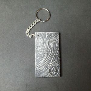 Beskar ingot keychain/ring, Star Wars inspired keyring. Mandalorian resin item