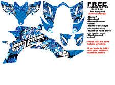 DFR BOMBER GRAPHIC KIT BLUE  SIDES/FENDERS YAMAHA YFZ450 YFZ 450