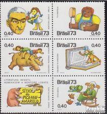 Brazil 1396-1400 Six block fine used / cancelled 1973 J. Monteiro Lobato