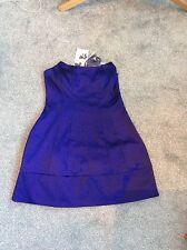 Women's BELLE by OASIS Purple Satin Strapless Dress Size 12 BNWT RRP£75