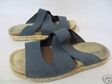 TOP Comfort Pantolette Sandale Eddie Bauer Hausschuhe 39 39,5 Leder blau /Z51