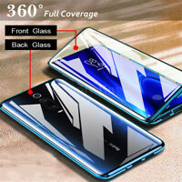 For Xiaomi Mi 9T 9 Lite 9 SE Magnetic Adsorption Metal Tempered Glass Case Cover