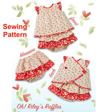Kwik Sew K3901 Pattern Infants Oh! Riley's Ruffles S-XXL BN