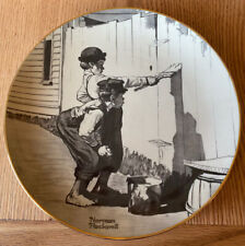 Vintage 1974 Norman Rockwell Tom Sawyer Painting The Fence Collector Plate