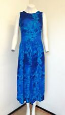 Lovely Blue & Turquoise Floral Sleeveless Dress from Nightingales - Size 10