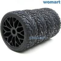 4pcs RC 1/8 Tires Tyres 100mm & 1:8 Wheels Rims Hex 17mm For RC HPI On-Road Car