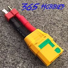 Qty-(1) Male Deans to Female XT-90 Anti Spark 10AWG Connector Adapter LiPo XT90