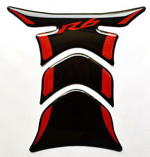 Yamaha YZF-R6 Piano Black +RED tank Protector pad Decal Sticker trim guard