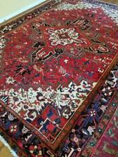 8x10 or 7.3 x 10.3 Vintage Fine Heriz Rug Antique Serapi Oushak Caucasian Kazak