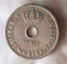 1924 NORWAY 10 ORE - Scarce Quality Coin - Norway Bin #A