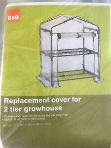 2 Tier Mini Greenhouse House PVC Cover Plastic Garden Walk In Grow Bag