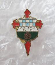 RACING CLUB FERROL Spain - Superb Vintage Buttonhole Enamel Football Pin Badge