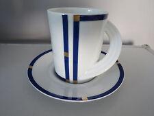 Rosenthal CUPOLA Blau KAFFEETASSE 0,19L mit UNTERTASSE Cup & Saucer Liebherr