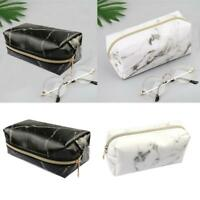 Cute Large Zipper Pencil Case Pen Box Bags Marble Makeup Hot Storage Suppli H8M1