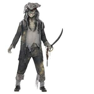 Adult Mens Ghost Ship Ghoul Pirate Themed Fancy Dress Costume