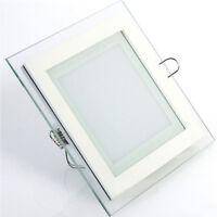 6W 12W 18W LED Glas Panel Deckenlampe Einbauleuchte Warmweiß Neutralweiß Eckig