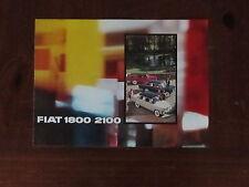 Fiat 1800 - 2100 - 2100 Speziale  Prospekt Brochure