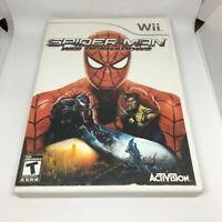 Spider-Man: Web of Shadows (Nintendo Wii, 2008) Complete NTSC-U/C