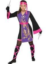 Teen Sassy Samurai Warrior Mortal Kombat Girls Fancy Dress Costume Ninja Kids
