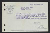 "PARIS (VIII°) HOTEL RESTAURANT ""LE BRISTOL / R. FABRE Exploitant"" en 1948"
