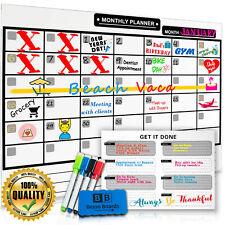 Dry Erase Weekly Monthly Magnetic Calendar Whiteboard Fridge Board Planner