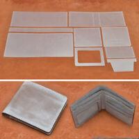 1 set Wallet Purse PVC Template Set Card Stencil Pattern Leather Craft DIY