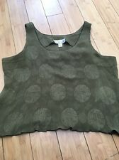LILI BUTLER Women's Green Medallion Silk Tank Cami Top Sz L New! Only 1 On eBay!