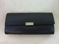 FURLA Onyx Black Saffiano Leather Classic Flap Long Wallet