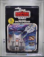 VINTAGE STAR WARS 1980 ESB DIE CAST REBEL ARMORED SNOWSPEEDER MOC AFA 70