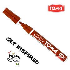 Brown permanente a base di olio penna per VERNICE AUTO MOTO PNEUMATICO Marker in metallo impermeabile