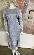 Vintage A.J. Bari Neiman Marcus Blue Silk Cocktail Dress Size 10 Modern Small