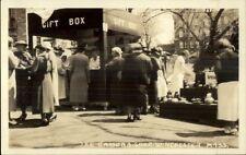 Winchester MA Enka Street Fair - Real Photo Postcard #18 GIFT BOX STAND