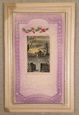 c.1908-10 AIRBRUSHED EMBOSSED/SCULPTED CHRISTMAS Postcard TR Co.