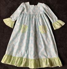 Shrimp & Grits Kids Girls Size 9 Aqua Blue Print Dress