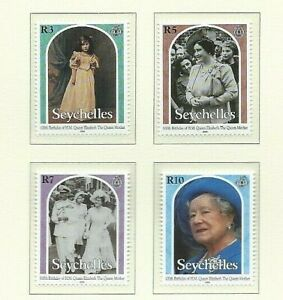SEYCHELLES  2000 - QUEEN MOTHER'S 100th BIRTHDAY (Set of 4 - SG901/4) -  MNH