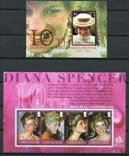 Turks und Caicos 2007 Lady Diana Royalty Brit. Königshaus 1864-67 Block 235 MNH
