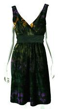 ETRO Black & Multi-Color Abstract Velvet Empire Waist Cocktail Dress 44