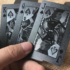 Waterproof Plastic Playing Cards Collection Black Diamond Poker Cards Camping